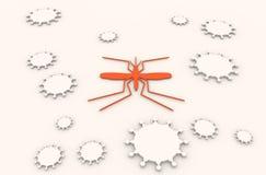 Broschyr-, rapport- eller reklambladdesignbakgrund Relativa virussjukdomar Royaltyfri Fotografi