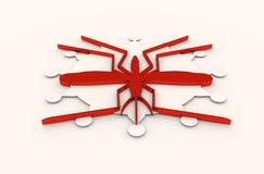 Broschyr-, rapport- eller reklambladdesignbakgrund Relativa virussjukdomar Arkivfoton