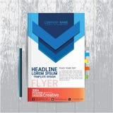 Broschyr reklamblad, affisch, mall för designorientering i formatet A4 med royaltyfri illustrationer