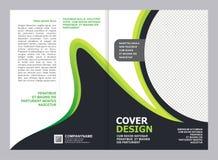 Broschyr reklamblad, design för räkningsmall royaltyfri illustrationer