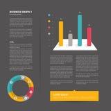 Broschyr reklamblad, informationsblad, årsrapportorienteringsmall Arkivbild
