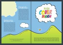 Broschyr - reklambladmalldesign för unge stock illustrationer