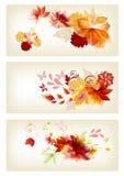 Broschyrdesign i blom- stil Vektor Illustrationer