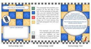 broschyrdesignmarmor Arkivfoton