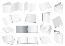 broschyrdummyvektor stock illustrationer