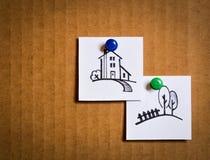 Broschyrer med tecknad filmsymboler Fotografering för Bildbyråer