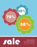 broschyrförsäljningsmall Arkivfoto