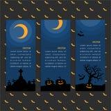Broschyrmall med den halloween designen royaltyfri illustrationer