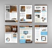Broschyrmall med infographics Arkivfoton