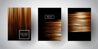 Broschyrmallar med abstrakta låga poly designer Fotografering för Bildbyråer