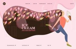 Broschyrräkning som används, i att marknadsföra och annonsering av glass royaltyfri illustrationer