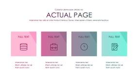 Broschyrräkningsinfographics som används, i marknadsföring och annonsering royaltyfri illustrationer