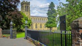 Broseley вся приходская церковь Святых стоковое фото rf