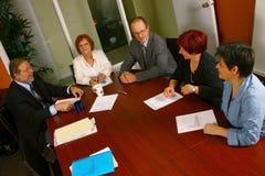 Bürositzung Lizenzfreies Stockfoto