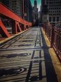Broskuggor under afton i Chicago Royaltyfri Foto