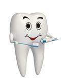 brossage de dent 3d blanc ses dents - graphisme d'isolement Image libre de droits