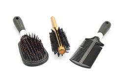 Brosse à cheveux différente Image stock