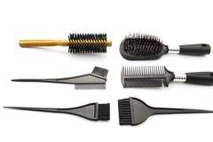Brosse à cheveux différente Photos libres de droits