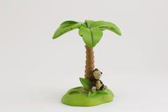Brosse à dents d'île de singe sur le fond blanc Images libres de droits