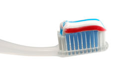 Brosse à dents d'isolement Images libres de droits