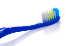 Brosse à dents d'isolement sur un blanc Photo stock
