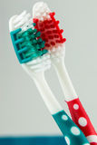 Brosse à dents deux Image stock
