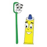 Brosse à dents et pâte dentifrice Photos stock