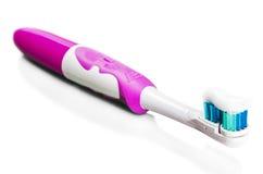 Brosse à dents et pâte dentifrice pour le nettoyage de dent Images stock