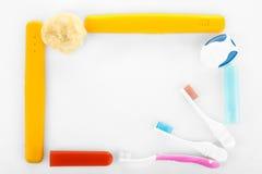 brosse à dents trois Photos libres de droits