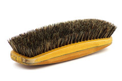 Brosse à habits en bois Photo stock