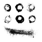 Brosse à l'encre noire Photographie stock libre de droits