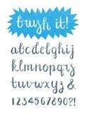 Brosse calligraphique Pen Font Hand Drawn Photographie stock libre de droits