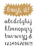 Brosse calligraphique Pen Font Hand Drawn Vector Images stock