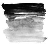 Brosse d'aquarelle À l'encre noire Images libres de droits