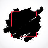 Brosse d'encre de calomnie dans le cadre de place rouge Photos libres de droits