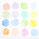 Brosse d'essai de couleur d'eau Photos stock