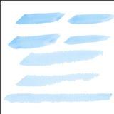 Brosse de couleur d'eau sur le papier Photo stock