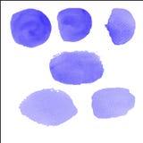 Brosse de couleur d'eau sur le papier Photos libres de droits