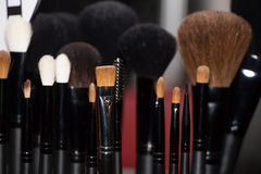 Brosse de lecture de maquillage Photo stock