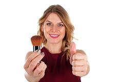 Brosse de maquillage de bonne qualité Images libres de droits