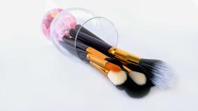 Brosse de maquillage, fard à paupières, maquillage, applicateur de mascara, RP de beauté images libres de droits