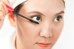 Brosse de mascara Photographie stock