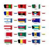 Brosse de rouleau avec le drapeau Images libres de droits