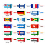 Brosse de rouleau avec le drapeau Photographie stock