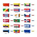 Brosse de rouleau avec le drapeau Image stock