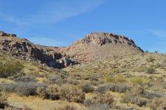 Brosse la Californie de canyon de roches de rouge Photo libre de droits