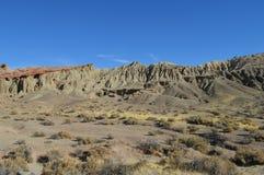 Brosse la Californie de canyon de roches de rouge Photographie stock libre de droits
