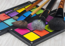 Brosse professionnelle de maquillage Images libres de droits