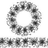 Brosse sans fin de modèle, guirlande ronde avec Anise Star Seeds, morceaux d'Apple découpé, clous de girofle Cadre de guirlande d illustration libre de droits
