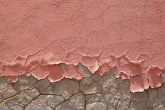 Brosse schil roze verf stock afbeelding